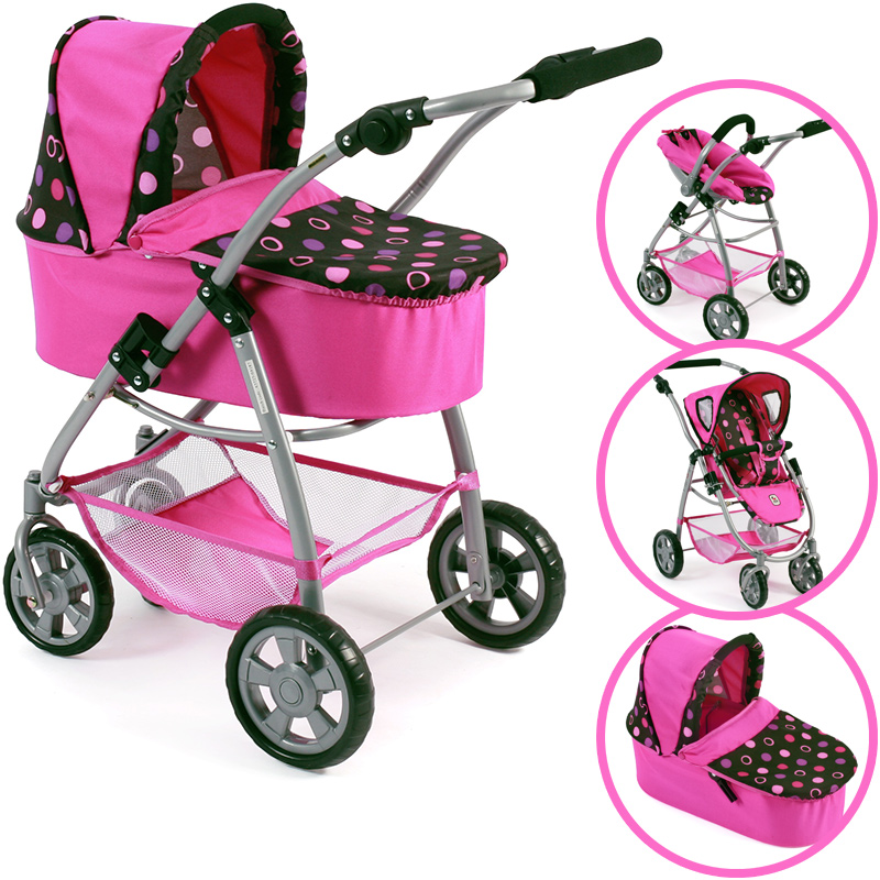 bayer-chic-2000-puppenwagen-emotion-all-in-3in1-pinky-balls-kinderspielzeug-