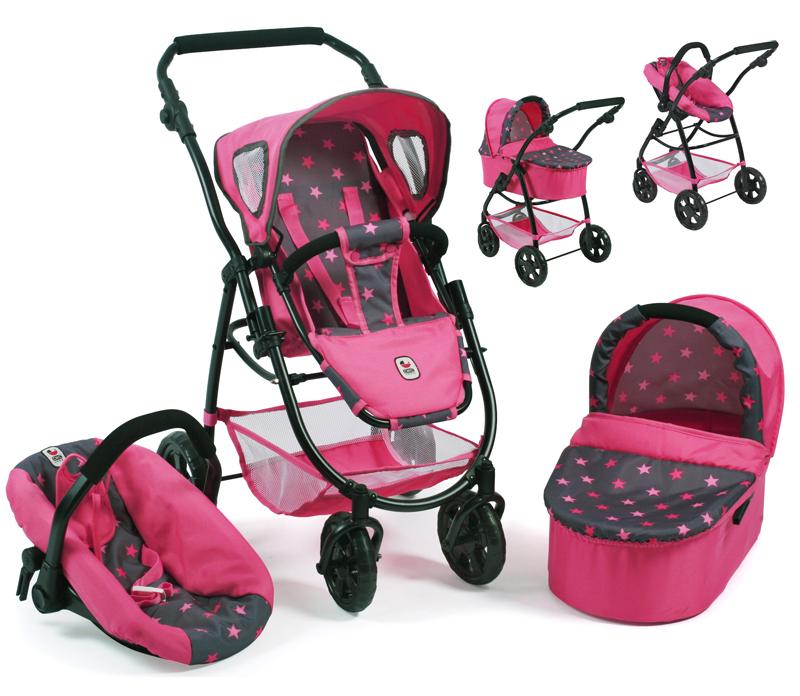 bayer-chic-2000-puppenwagen-emotion-all-in-3in1-sternchen-pink-kinderspielzeug-