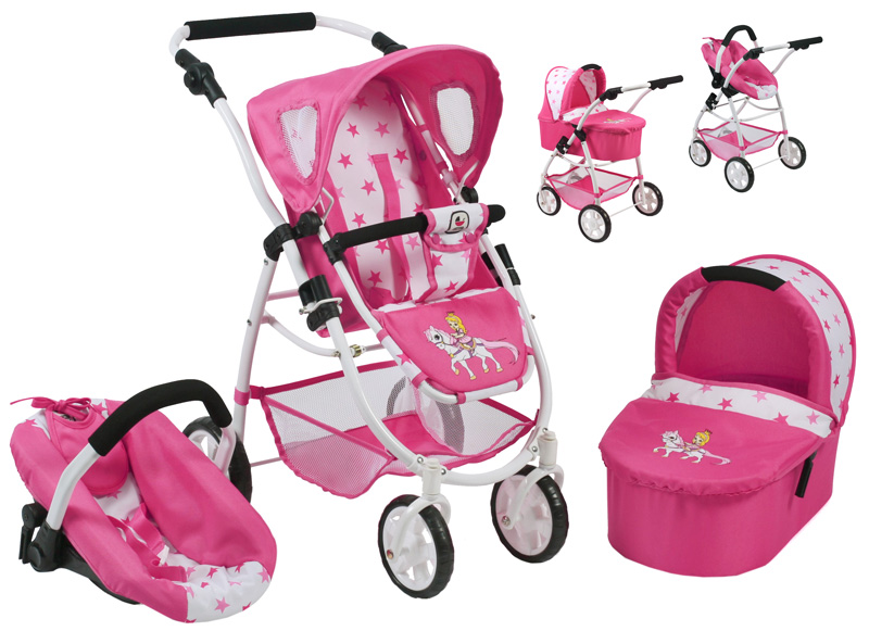 bayer-chic-2000-puppenwagen-emotion-all-in-3in1-pony-princess-kinderspielzeug-