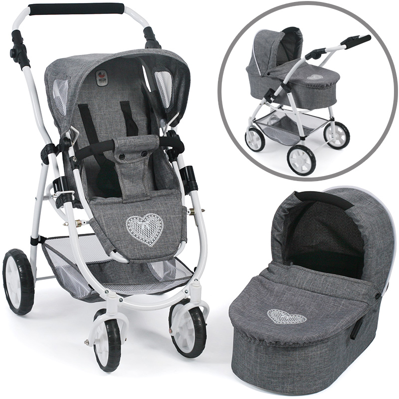 bayer-chic-2000-puppenwagen-emotion-2in1-jeans-grey-kinderspielzeug-