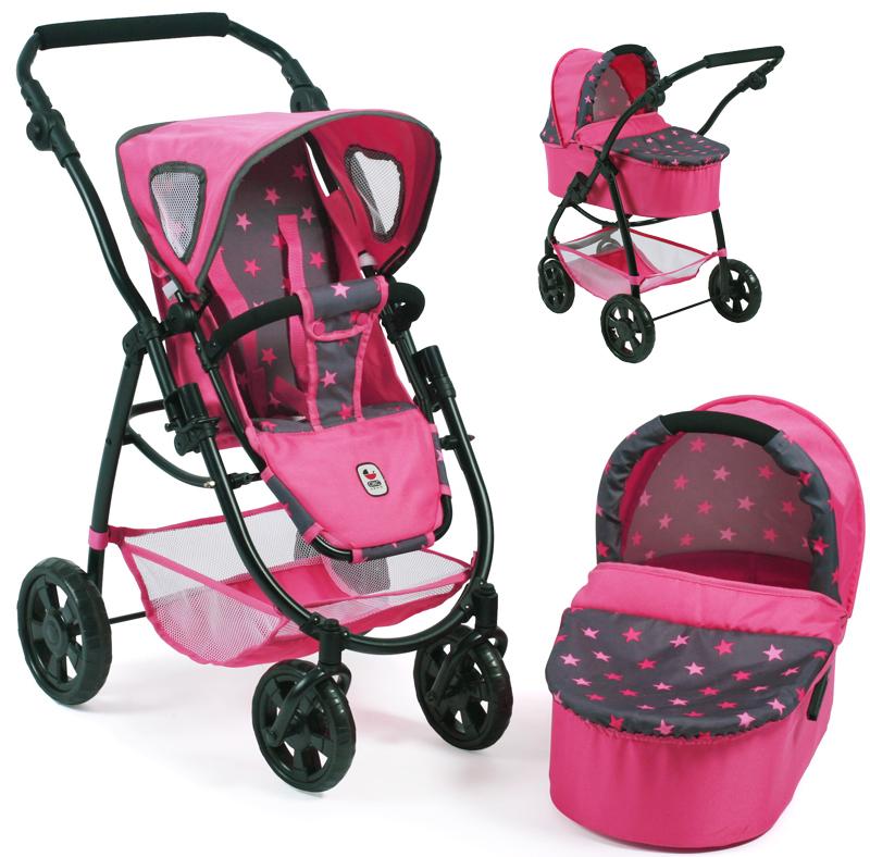 bayer-chic-2000-puppenwagen-emotion-2in1-sternchen-pink-kinderspielzeug-