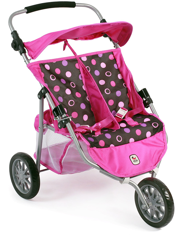 bayer-chic-2000-zwillingspuppenjogger-pinky-balls-kinderspielzeug-
