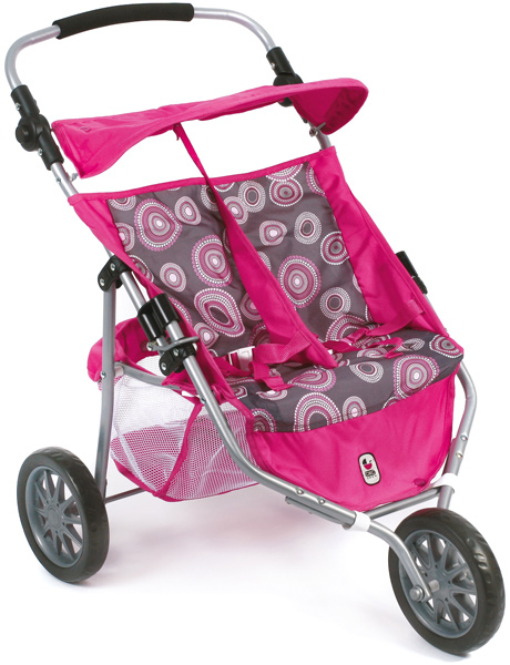 Zwillingspuppenjogger (Hot Pink Pearls) [Kinderspielzeug]