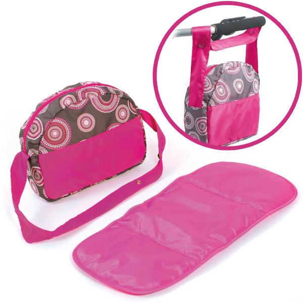 bayer-chic-2000-wickeltasche-fur-puppenwagen-hot-pink-pearls-kinderspielzeug-