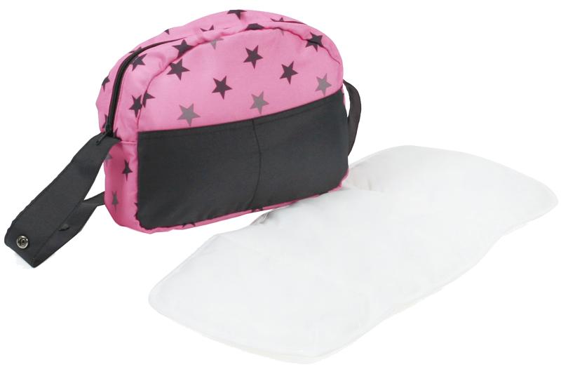bayer-chic-2000-wickeltasche-fur-puppenwagen-sternchen-grau-rosa-kinderspielzeug-