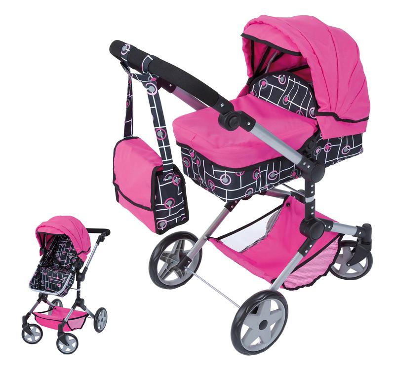 Bayer Design Puppenwagen Neo Pro 2in1 (Pink-Sch...