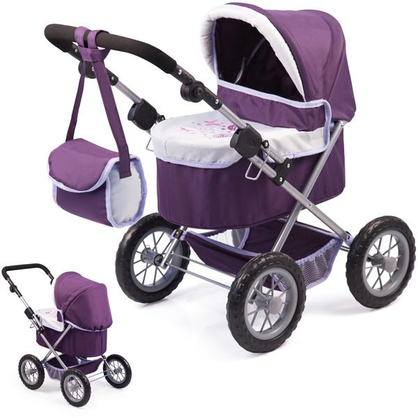 bayer-design-mein-erster-puppenwagen-trendy-lila-hellgrau-kinderspielzeug-