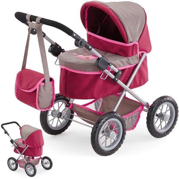 bayer-design-mein-erster-puppenwagen-trendy-bordeaux-grau-kinderspielzeug-