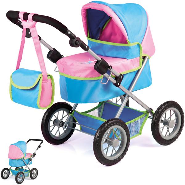bayer-design-mein-erster-puppenwagen-trendy-turkis-rosa-kinderspielzeug-