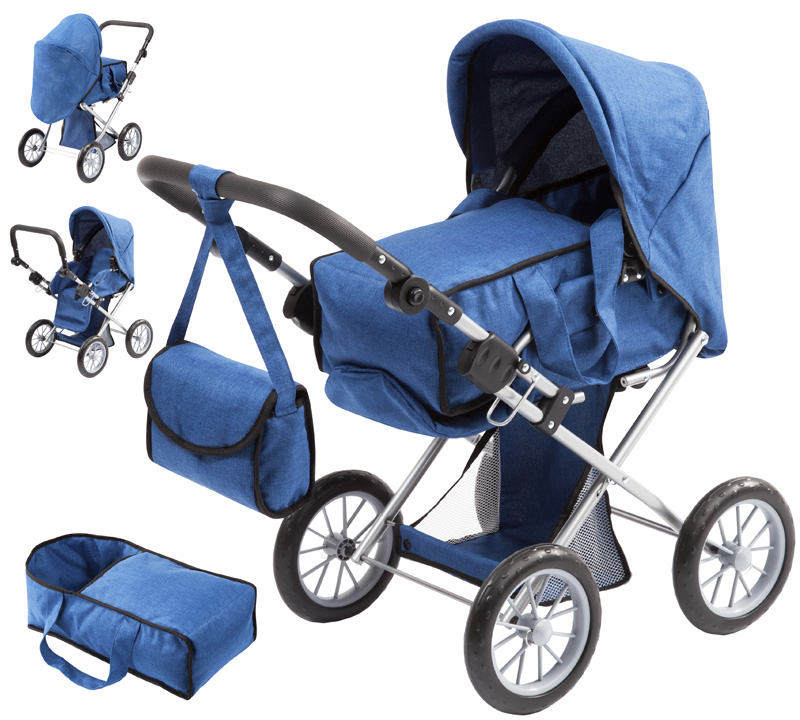 Bayer Design Puppenwagen City Star (Jeans Blau)...
