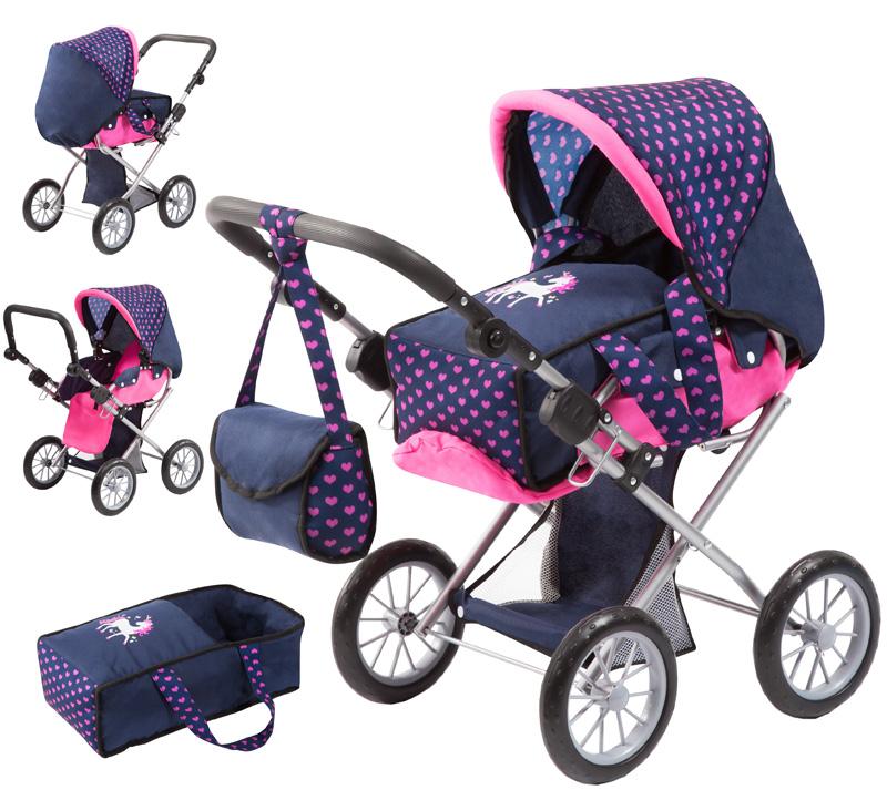 bayer-design-puppenwagen-city-star-einhorn-blau-pink-kinderspielzeug-