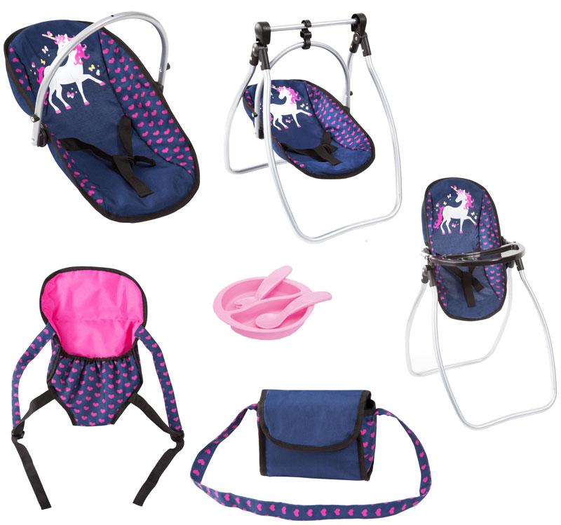 bayer-design-puppenzubehor-set-einhorn-blau-pink-kinderspielzeug-