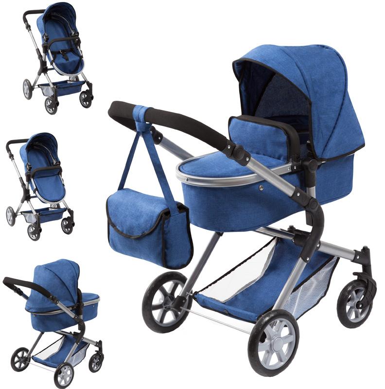 bayer-design-puppenwagen-city-neo-jeans-blau-kinderspielzeug-