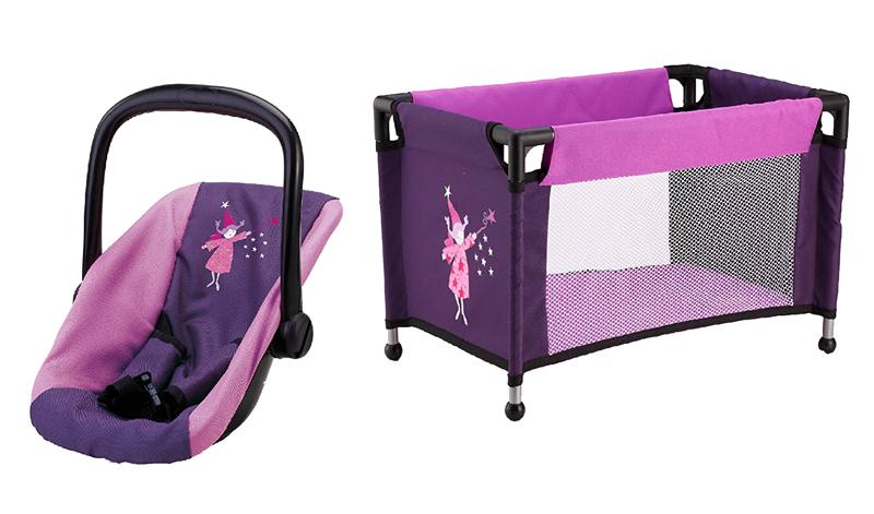 bayer-design-autositz-mit-reisebett-im-set-lila-kinderspielzeug-