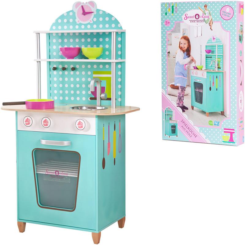 Sweet & Easy Spielküche aus Holz (Türkis) bei Spielzeug24