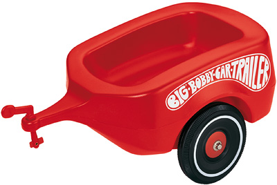 BIG Bobby Car Anhänger (Rot) [Kinderspielzeug]