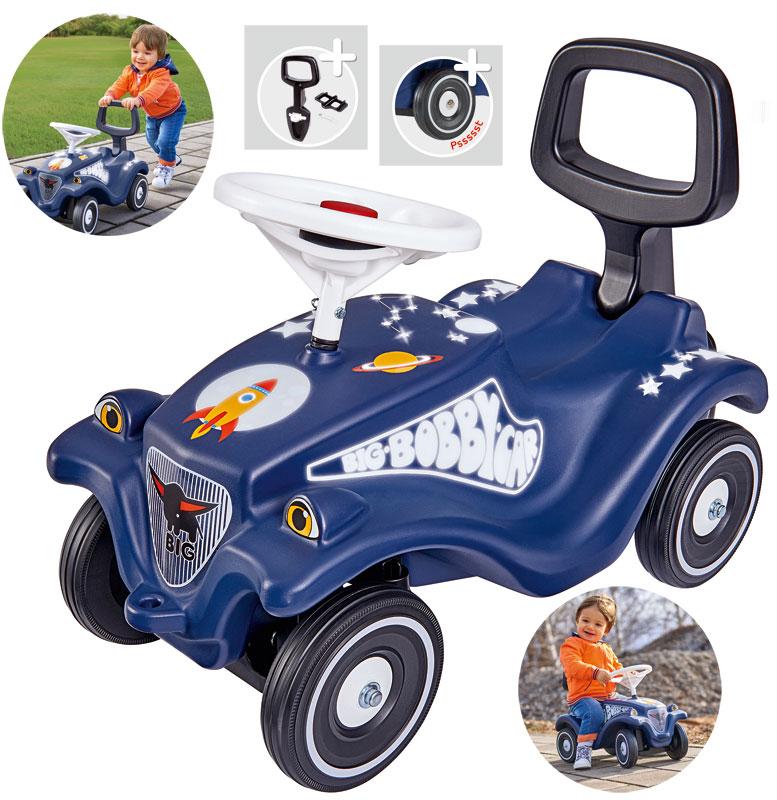 BIG Bobby Car Classic Moonwalker mit Rückenlehne (Blau) [Kinderspielzeug]