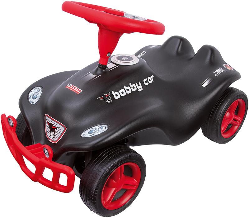 BIG New Bobby Car Fulda mit Rammschutz (Schwarz) [Kinderspielzeug]