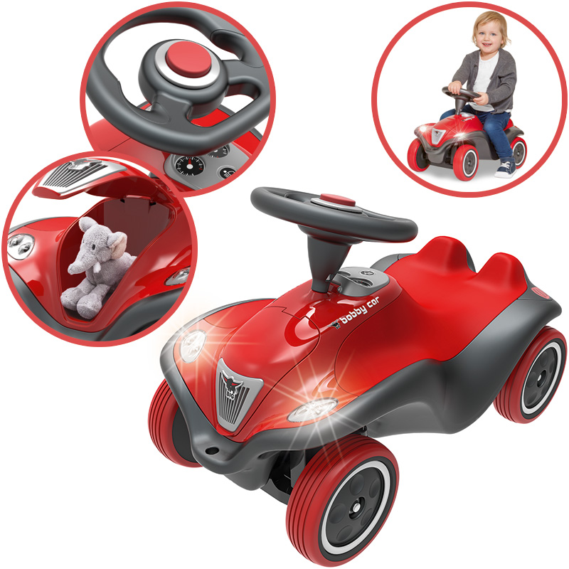 BIG Bobby Car NEXT mit Licht (Rot) [Kinderspiel...