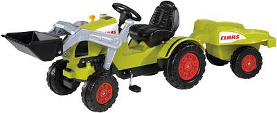 BIG Claas Celtis Traktor mit Schaufel und Anhänger [Kinderspielzeug]