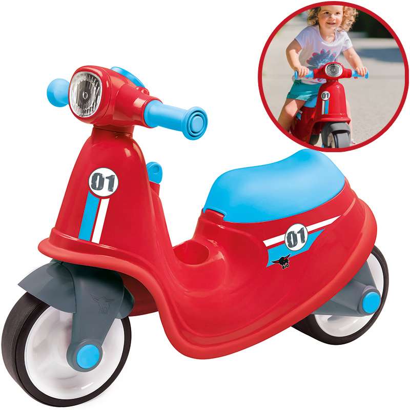 BIG Kinder Sitzroller Classic Scooter (Rot Blau) [Kinderspielzeug]