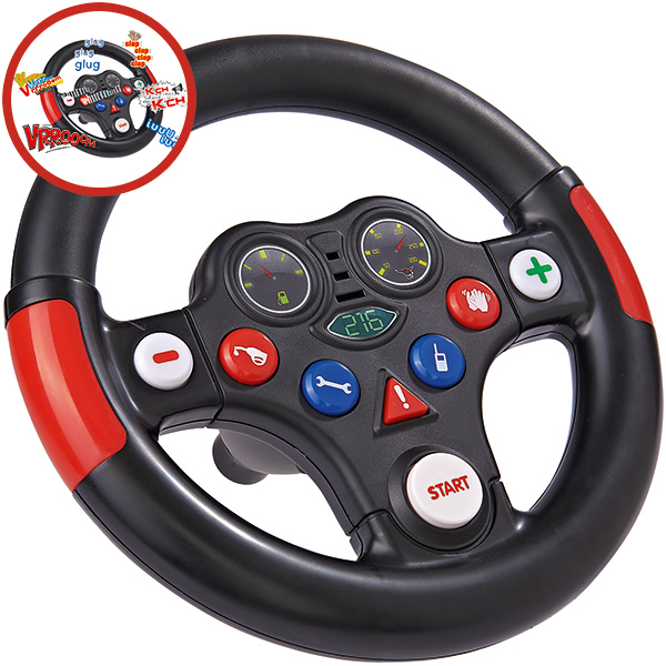 BIG Bobby Car Racing Sound Wheel Lenkrad [Kinderspielzeug]