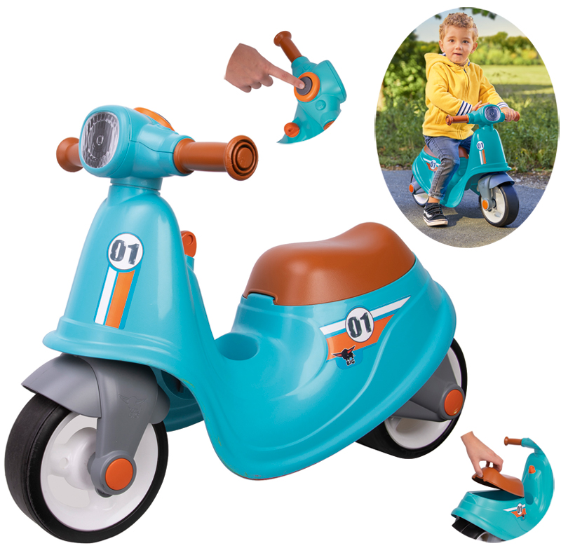 BIG Kinder Sitzroller Classic Scooter Sport (Türkis Braun) [Kinderspielzeug]