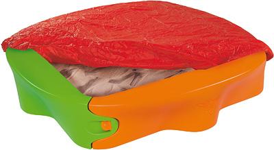 big sandkasten sandy mit abdeckplane sandkiste aus kunststoff buddelkiste neu ebay. Black Bedroom Furniture Sets. Home Design Ideas