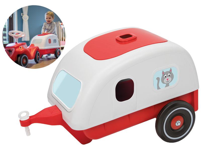 BIG Travel Caddy Wohnwagen Anhänger für Bobby Car [Kinderspielzeug]