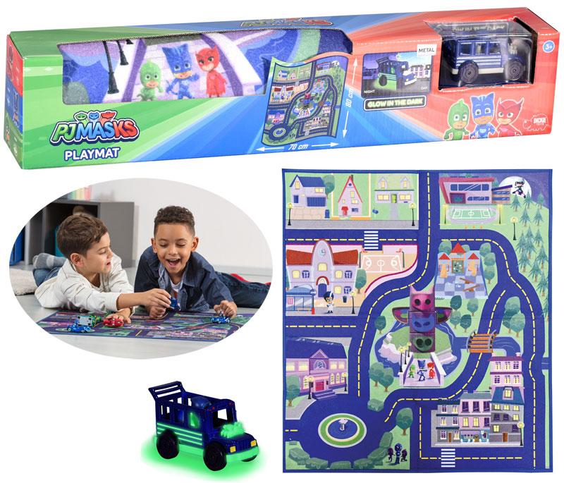 dickie-pj-masks-playmat-spielteppich-80-x-70-cm-mit-ninja-bus-kinderspielzeug-