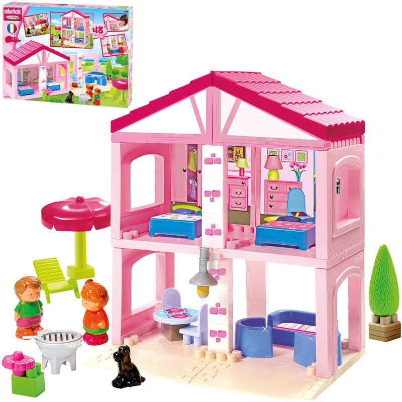 Ecoiffier Abrick Ferienhaus (Rosa) [Kinderspiel...