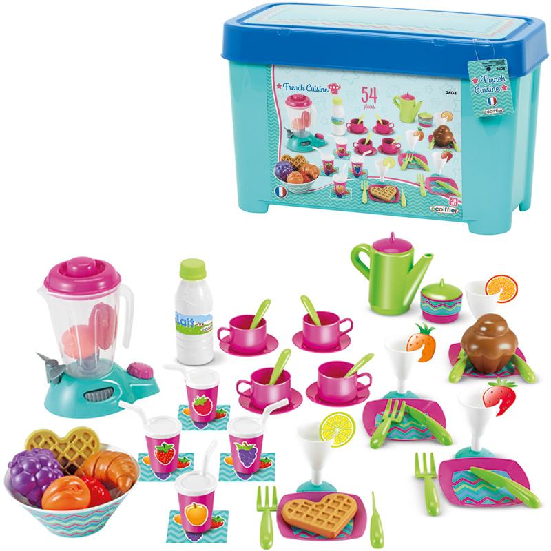 ecoiffier-gro-es-fruhstucksset-mit-geschirr-smoothie-maker-kinderspielzeug-