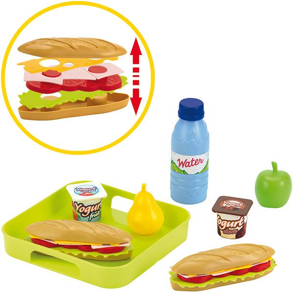 ecoiffier sandwich set mit tablett bei spielzeug24. Black Bedroom Furniture Sets. Home Design Ideas