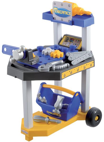 Ecoiffier Mecanics Mini Werkzeugwagen (Blau-Gelb) [Kinderspielzeug] - Preisvergleich