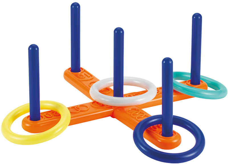 Ecoiffier kreuz wurfspiel mit ringen bei spielzeug