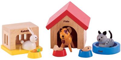 hape-haustier-set-furs-puppenhaus-bunt-kinderspielzeug-
