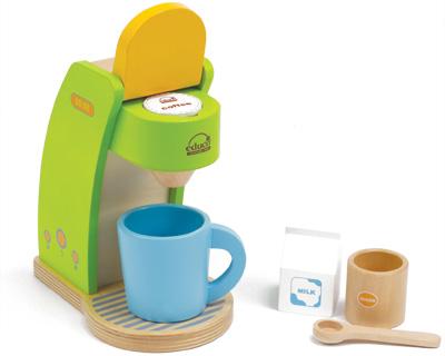 Hape Kaffeemaschine mit Zubehör aus Holz (Grün-Orange) bei nunon.de | {Zubehör für kaffeemaschinen 73}