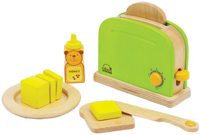 hape toaster mit zubeh r aus holz gr n bei. Black Bedroom Furniture Sets. Home Design Ideas