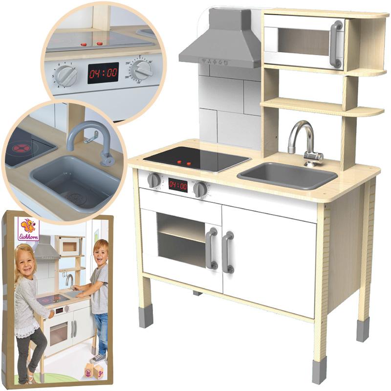 Eichhorn Spielküche aus Holz (Natur-Weiß) bei Spielzeug24