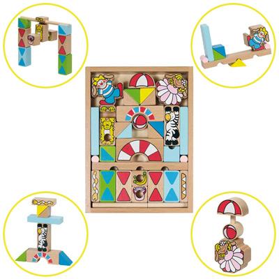 Baukasten Zirkus im Holzkasten [Kinderspielzeug]