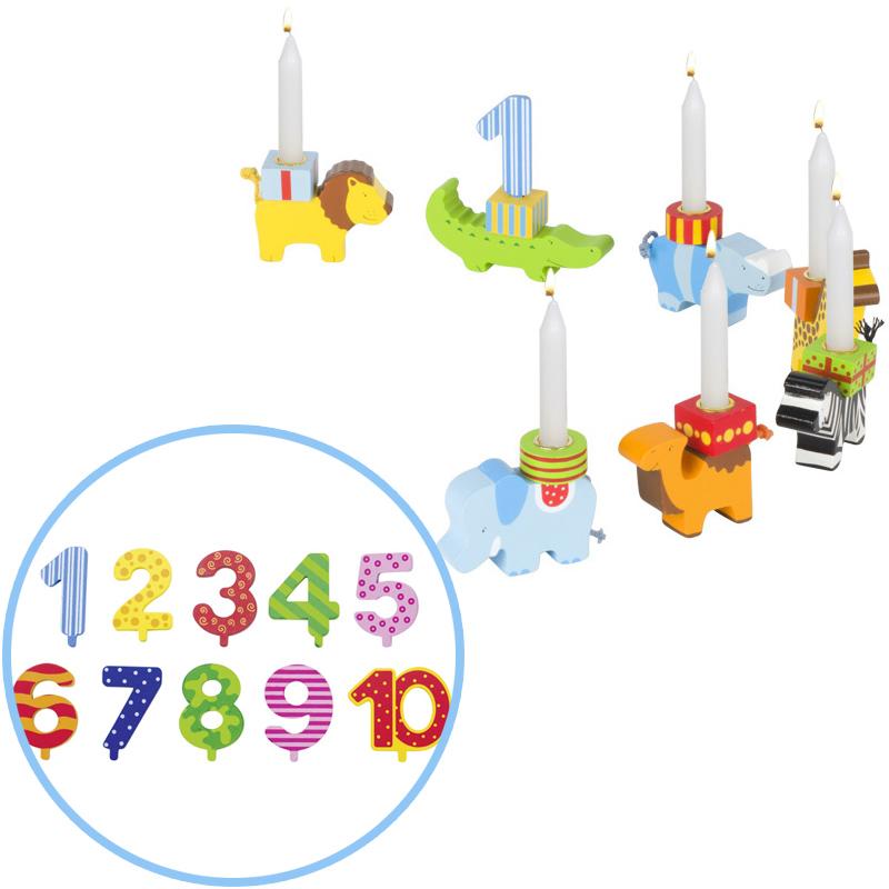 Goki Geburtstagstierparade mit Zahlen [Kindersp...