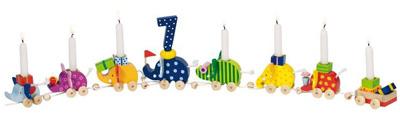 Goki Geburtstagselefantenparade mit Zahlen [Kinderspielzeug]