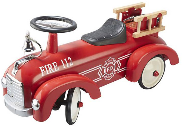Goki Rutscherauto Feuerwehr aus Metall [Kinderspielzeug]