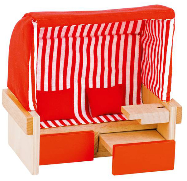 Puppenhaus Strandkorb [Kinderspielzeug]
