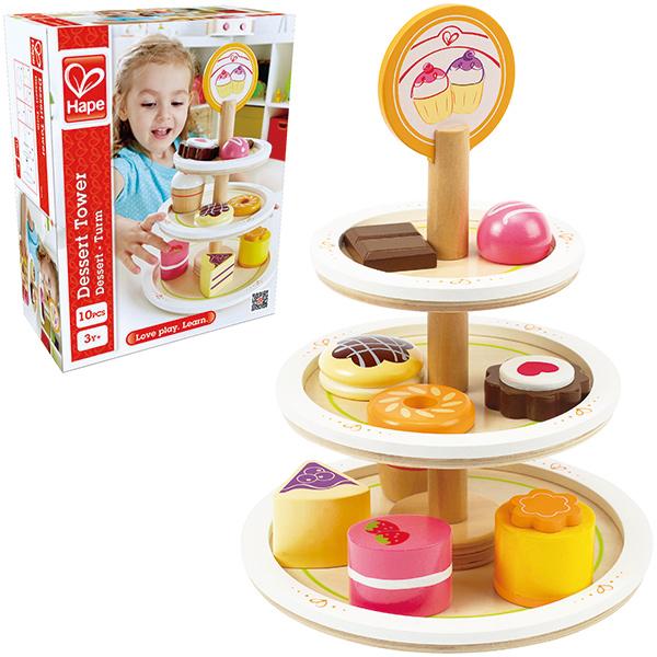 Dessert Tower für Kinderküche aus Holz [Kinderspielzeug]
