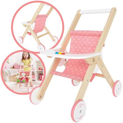 hape-puppenbuggy-aus-holz-natur-rosa-kinderspielzeug-