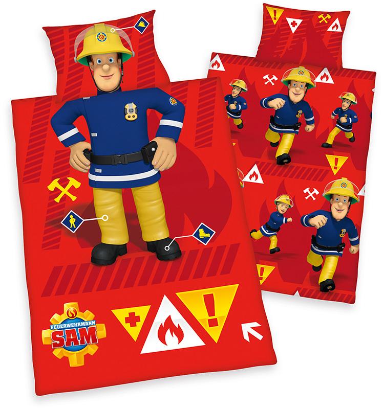 Herding Renforce Kinder-Bettwäsche Feuerwehrmann Sam 100 x 135 cm (Rot) [Babyausstattung]