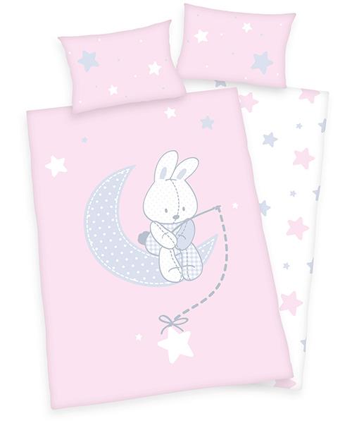 herding renforce kinder bettw sche jana hase 100 x 135 cm rosa grau bei spielzeug24. Black Bedroom Furniture Sets. Home Design Ideas