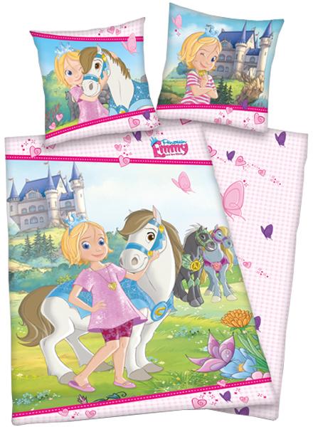 Renforce Bettwäsche Prinzessin Emmy 135 x 200 cm (Rosa-Bunt) [Kinderspielzeug]