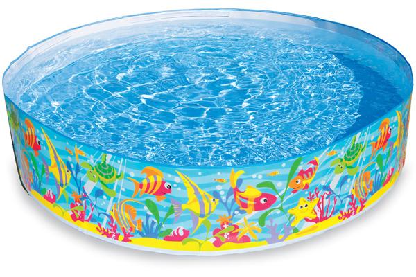 intex quick snap pool fische 183 cm planschbecken kinder pool ohne aufpusten neu ebay. Black Bedroom Furniture Sets. Home Design Ideas